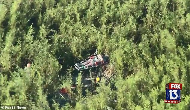 One pilot was flying in an aircraft belonging to the Polk County Sheriff's Office when he made a crash landing near the gyrocopter which had crashed earlier in the day in Fort Meade