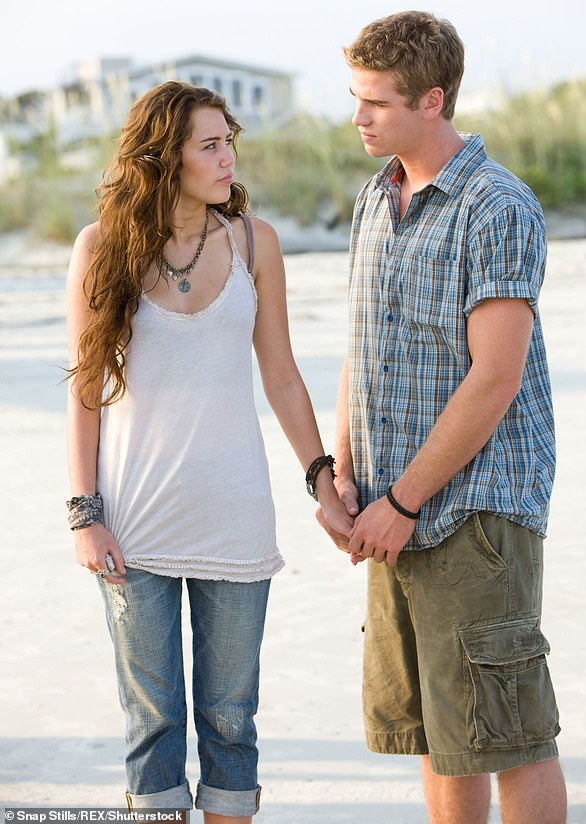 Origin story: Miley and Liam embarked on a real-life relationship while playing a couple onscreen in The Last Song