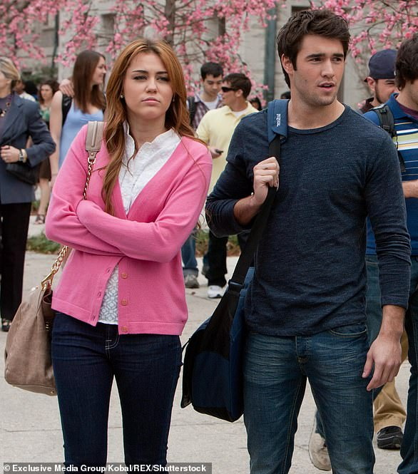 Another co-star: Miley was glimpsed in 2011 cuddling in Los Angeles' Griffith Park with Josh Bowman, her castmate in the 2012 comedy So Undercover (pictured)