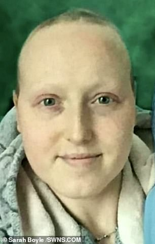 Sarah after several rounds of gruelling chemo