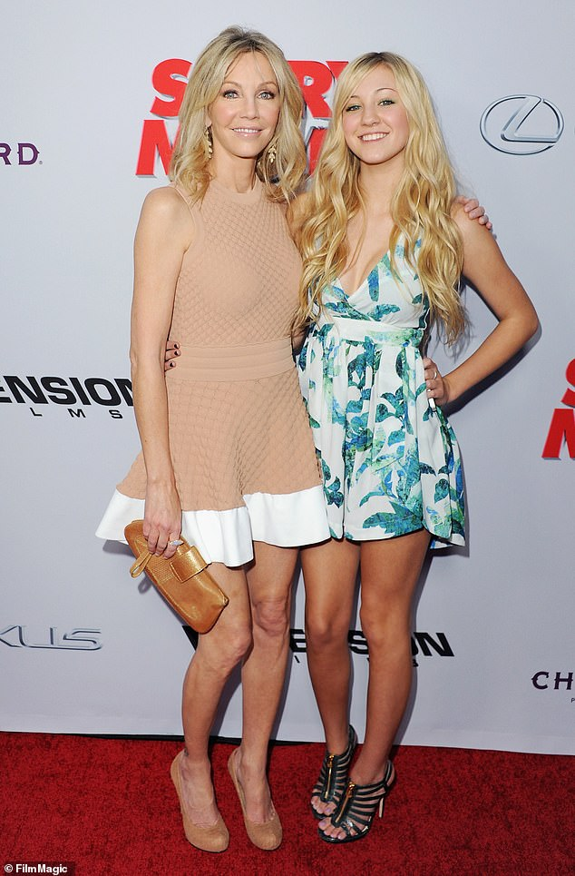 Spot the resemblance: Mother and daughter are pictured at the 2013 Hollywood premiere of Scary Movie 5, which featured Heather in the cast
