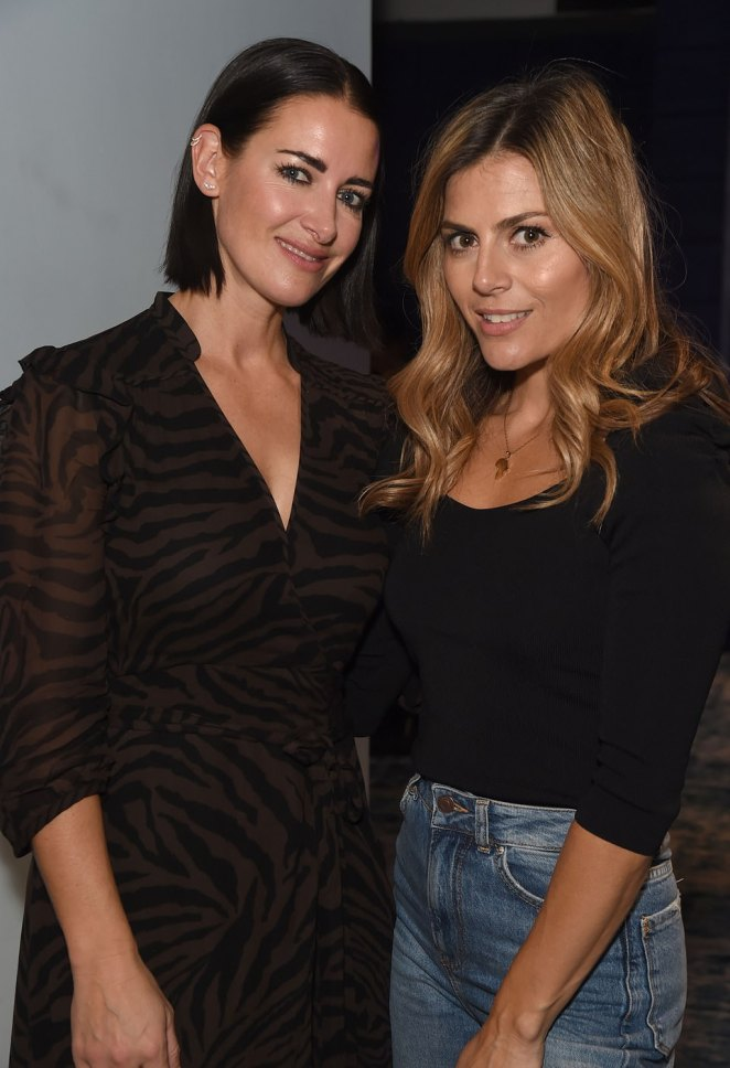 Gorgeous: Kirsty and Zoe cosied up for a sweet snap at the star-studded bash