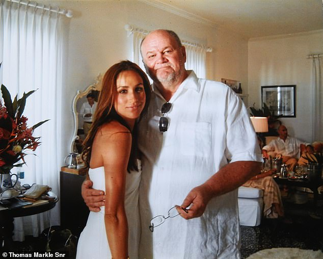 Pictured on Meghan's wedding day to Trevor Engelson in Jamaica in 2011. Last night, retired Hollywood lighting director Thomas Markle, 75, spoke for the first time since his daughter issued her writ against this newspaper for publishing parts of the letter