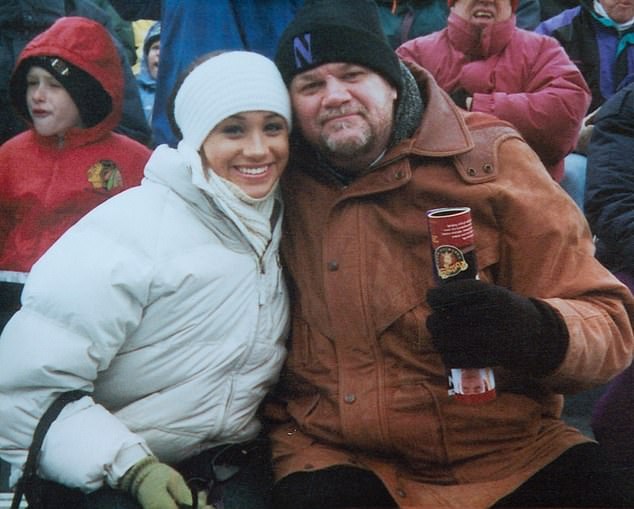 Thomas Markle is particularly upset Meghan's friends used the People magazine article to misinterpret something he wrote in his letter of response to his daughter, in which he suggested he and Meghan should pose for a press photo together. Pictured in 2002