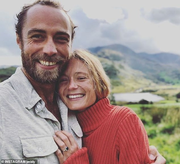 James Middleton, 32, announced his engagement to girlfriendAlizee Thevenet, 30, with an Instagram post, tagging the post in the Lake District