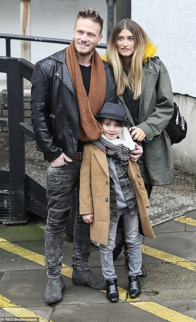 Parenting styles: And while she admits date nights are off the table until they adjust to life with three, Charley shared how much Matthew, 39, adores his role as a dad to their boys (Pictured in 2017)