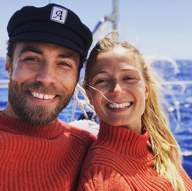 Pictured, together in May. James Middleton posted this photograph with Miss Thevenet on his Instagram page earlier this year, writing 'Sail away with me'