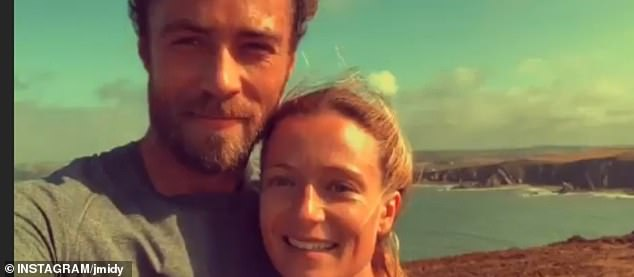 In another of the snaps, the outdoorsy couple, who have been together for just over a year, can be seen beaming while enjoying a coastal view in the sunshine