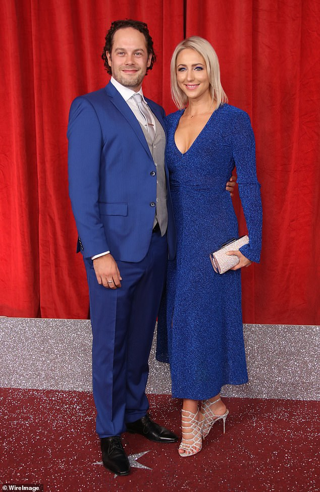 Bundle of joy: Ali, pictured in June with her husband David O'Mahony, is 17 weeks pregnant