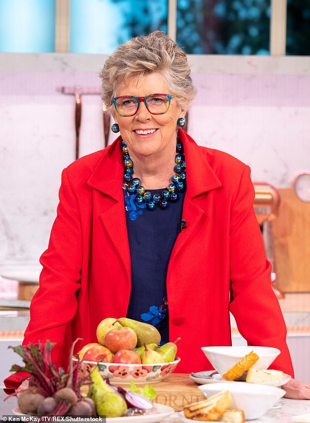 Diet dilemma:With a day job requiring her to eat large amounts of cake, it¿s no wonder Prue Leith has found it tricky keeping an eye on her waistline