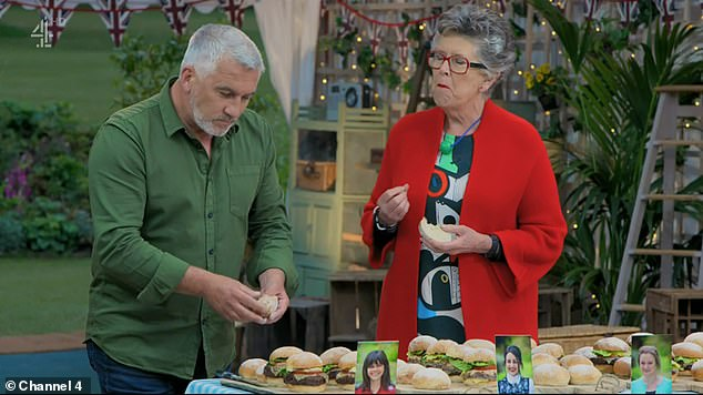Chat: Speaking at the Henley Literary Festival, Miss Leith said that while she hopes to lose the weight, she doesn¿t want to ¿fret¿ about calories (pictured with co-star Paul Hollywood)