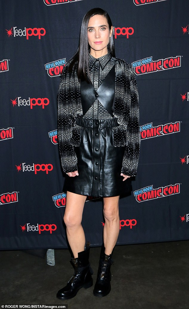 New role: Jennifer Connolly was at New York Comic Con on Saturday to talk about her upcoming TNT series Snowpiercer, based on Bong Joon-ho's 2013 movie of the same name