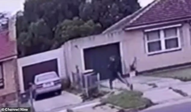 CCTV seized by police shows a man running downHamblyn Road around the time Malcolm Walker was last seen in Elizabeth Downs