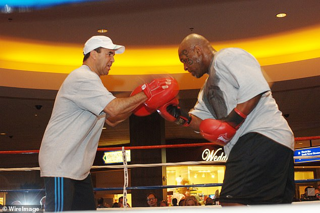 But his spirits were lifted on Monday when he received a call from old mate, ex-heavyweight champion Mike Tyson
