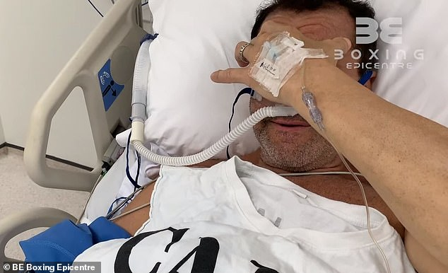 Fenech broke down in tears as he explained his health issues (pictured)