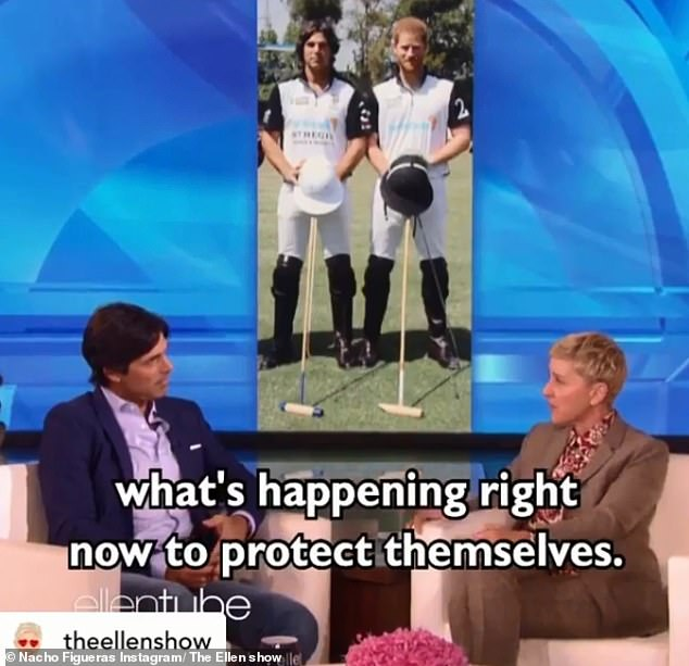 The Argentinian polo player, who is captain of the royal's charity polo team, took to Instagram to share a clip of his recent appearance on The Ellen Show, during which they discussed the press coverage on the Duke and Duchess of Sussex (seen)