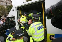 Nearly 300 Arrested As Climate Activists Block Central London Roads