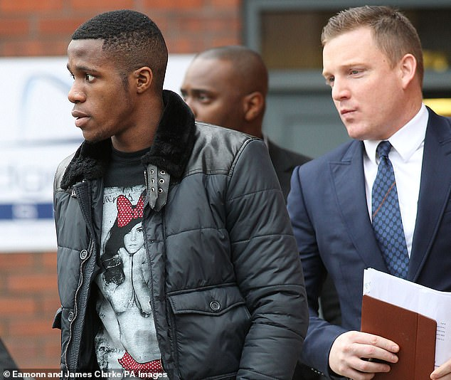 Zaha alleges that Will Salthouse (right) is too close to Crystal Palace chairman Steve Parish