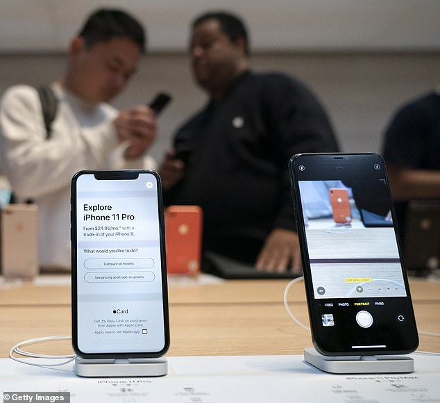 A new report finds Apple reigns supreme in the smartphone world. Consumer Reports has revealed that the tech giant¿s iPhone 11 Pro Max is the top-rated handset on the market, followed by the iPhone 11 Pro (left)