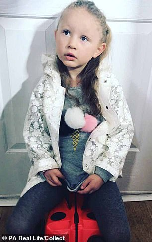 Born with a rare disorder called VACTERL Association, which affects different systems in the body, brave Darcy had endured 20 operations during her short life and was awaiting heart surgery when she contracted the infection which killed her on January 24 this year