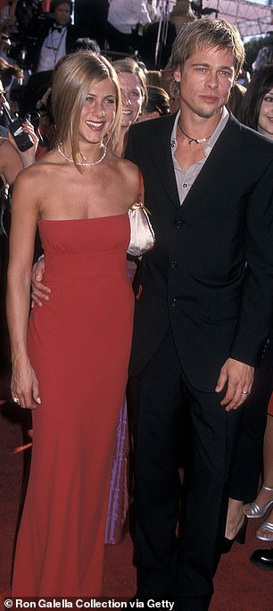 And the siren was also wed to Brad Pitt for five years; seen here in 2000