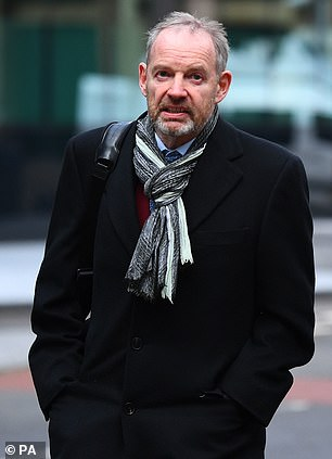 Also accused: Richard Boath, 60, seen outside Southwark Crown Court in January