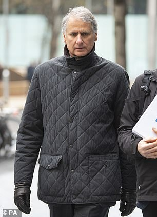 Tom Kalaris (pictured in January outside Southwark Crown Court), 63, raised £322million in emergency fundraising from two Qatari investors amid worldwide financial chaos, jurors were told