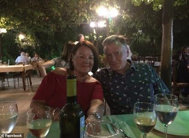 Robert's wife Valerie (above) visited him in Ukraine soon after he left prison but during her stay slipped and broke her shoulder leaving her in agony and she has remained in the UK since