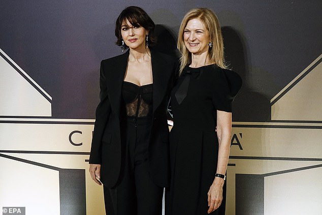 Together: Monica posed with the CEO of Film Academy, Dawn Hudson