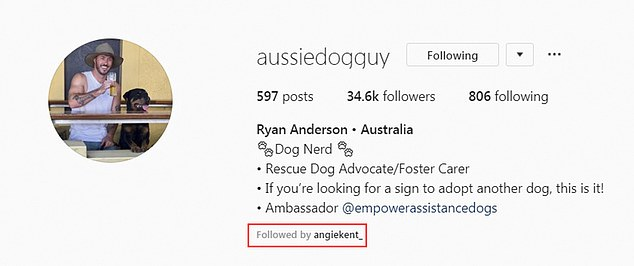 Does he go all the way?At present, the 32-year-old is the only contestant Angie is following on Instagram (highlighted in red), suggesting he may be a frontrunner