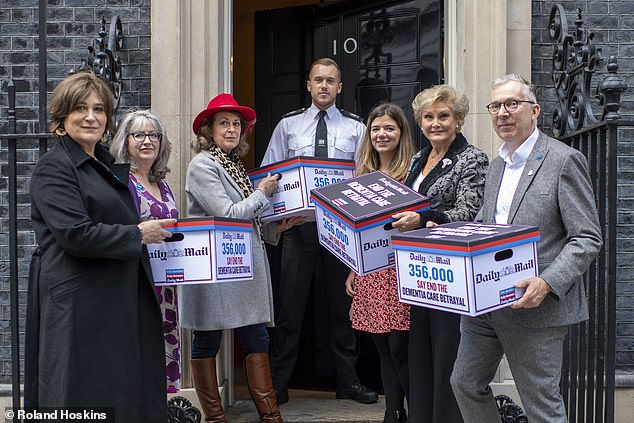 I joined Angela Rippon and others in delivering our petition to the door of No 10 Downing Street