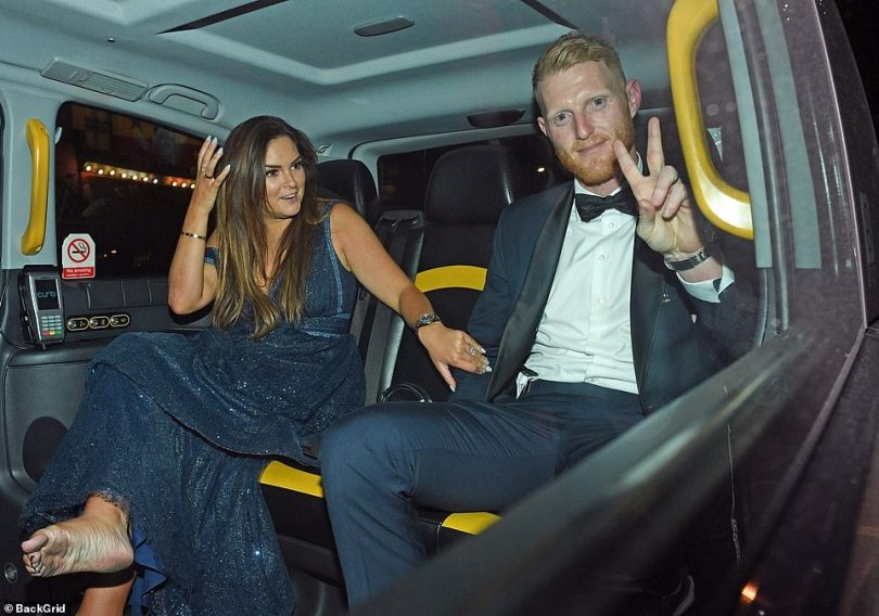The couple hop into a cab at 2.25am and appear happy. They later arrived at their hotel. Today Mrs Stokes revealed they had a romantic late-night McDonald's