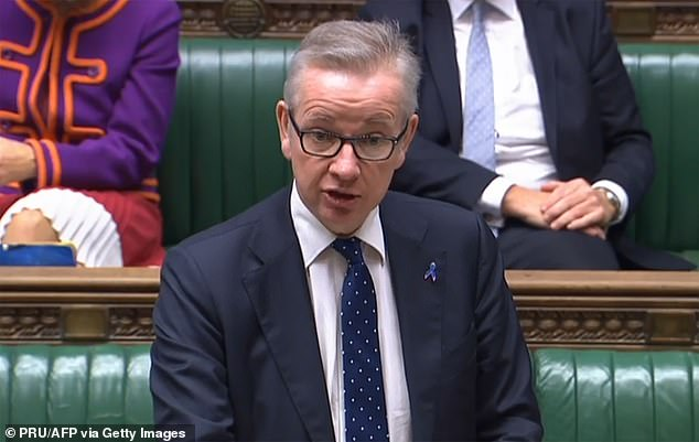 In the Commons, Michael Gove was also challenged about the tone and content of the briefing by Tory MPs