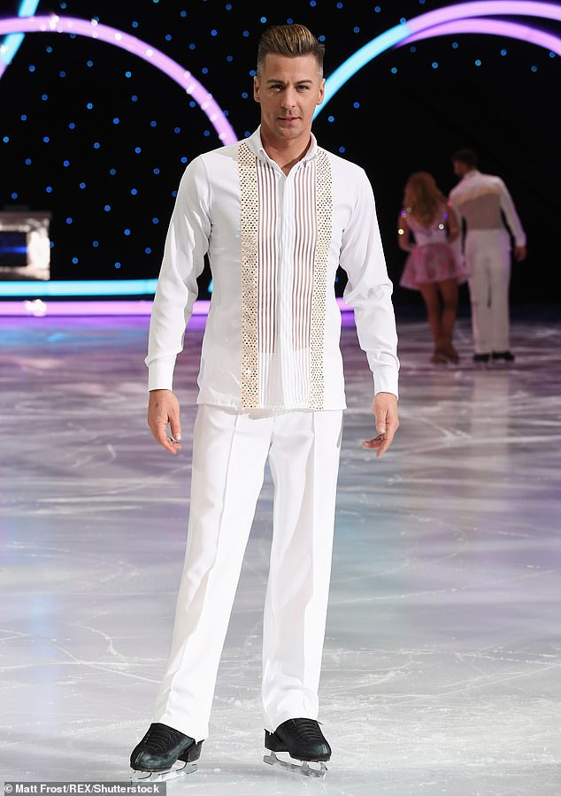 Partner: The former Steps star, 43, will be partnered with US professional Matt Evers, also 43