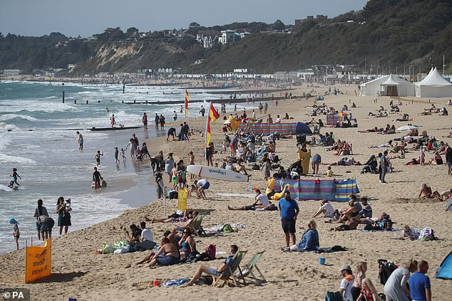 The survey of 2,043 Britons also found 51 per cent were worried it will be more expensive to go on holiday after Brexit. This rises to 60 per cent for under-35s. Pictured, Bournemouth