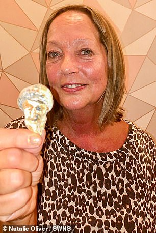 Deborah (pictured above) joked about finding the shell at the beach as Bin Laden was buried at sea