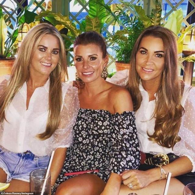 The in-laws!As well as her own family, the WAG also has a close bond with Wayne's nearest and dearest with Coleen close pals with his cousin Claire Rooney (pictured far left)