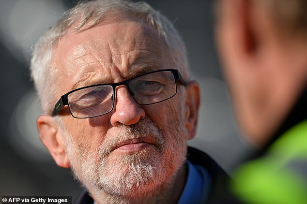 Jeremy Corbyn, pictured during a visit in Southampton today, said if Boris Johnson loses a vote of no confidence he would be 'invited to form an administration'.