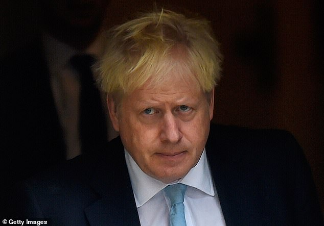 Downing Street sources have previously suggested that Mr Johnson, pictured leaving Number 10 on October 3, would not step down even if he lost a vote of no confidence