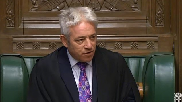 Speaker John Bercow (pictured in the Commons last night) faced allegations of 'plotting' today after it emerged he met the boss of the European Parliament to discuss their 'shared' desire to avoid No Deal