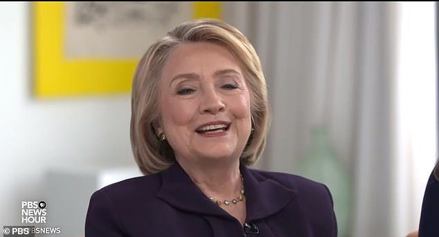 Clinton told a PBS interviewer on Tuesday that she could beat Donald Trump 'again,' glossing over the reality of her decisive loss in the all-important Electoral College