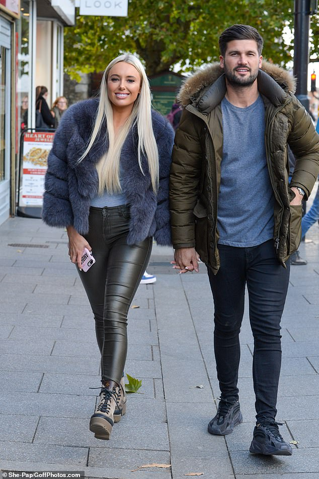Row: The reality star revealed during an emotional chat with Chloe Meadows, that despite having a 'good week' she was left devastated by his actions
