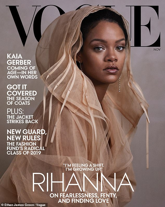 'I just couldn't be a sellout':Rihanna confirmed in her new Vogue cover story that she stood up for Colin Kaepernick by declining an offer to play the Super Bowl halftime