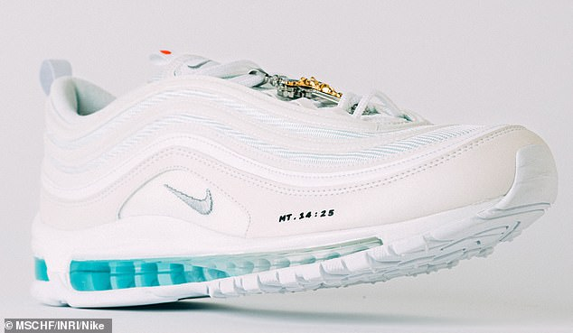 A blessing: A pair of $3,000 Nike sneakers filled with holy water and blessed by a priest sold out in mere minutes after launching online on Tuesday