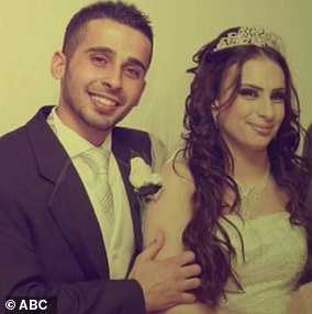 Mariam Dabboussy was not a devout Muslim but her life changed at 22 when she married Kaled Zahab (pictured). The woman who had been a childcare and migrant support worker went to the Middle East in mid-2015 with her husband and their 18-month-old child