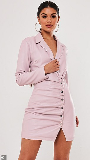 The patent leather lilac blazer dress