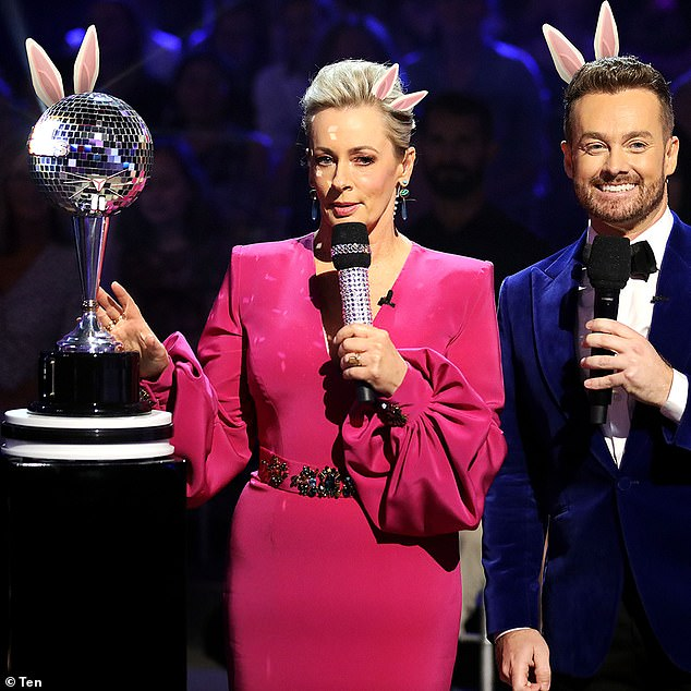 Back on the dance floor: Fans of Dancing With The Stars can rejoice with Amanda Keller and Grant Denyer (pictured) back to present the celebrity dance contest