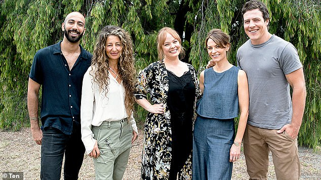 Another season: Local drama Five Bedrooms - starringRoy Joseph,Doris Younane,Kate Jenkinson,Kat Stewart andSteve Peacocke (pictured left to right) - was also given the green light for 2020