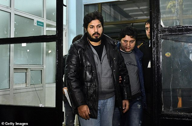 Tillerson flatly refused Trump's request to persuade the DOJ to drop a criminal case against Reza Zarrab (above), who was charged with violating sanctions against Iran