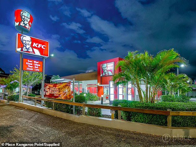 With a KFC located only 30 metres away, chicken lovers should run to make an offer on the popular apartment